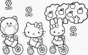 Hello Kitty Halloween Coloring Pages Printable 1