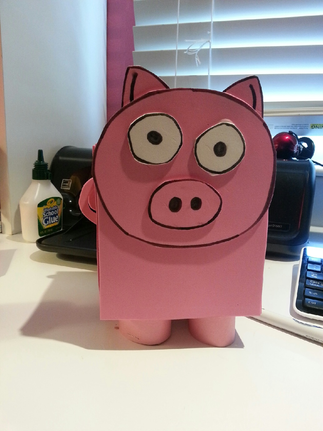How To Make A Book Cover Out Of Construction Paper ~ Tissue box piggy art projects
