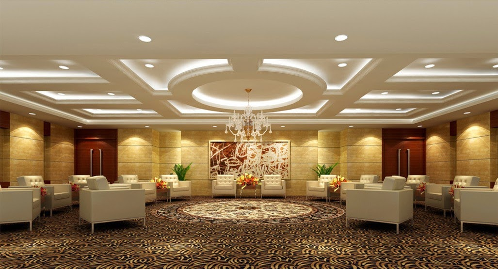 Foundation dezin decor trendy 2014 ceiling designs for Wall design in hall