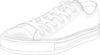 Desenhos Para Colori Estilo diferente de Tenis desenhar