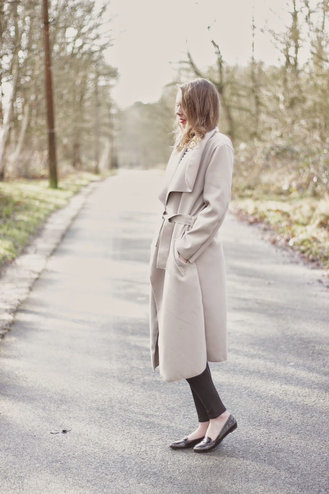 outfit maxi trench coat