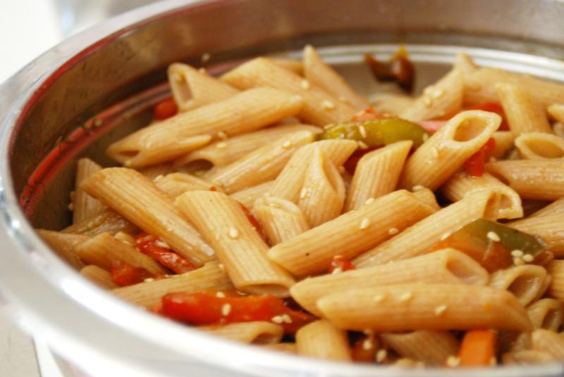 pasta fredda peperoni alla griglia