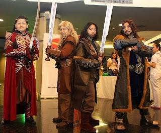 Lord Elrond, Fili, Kili, Thorin Oakenshield