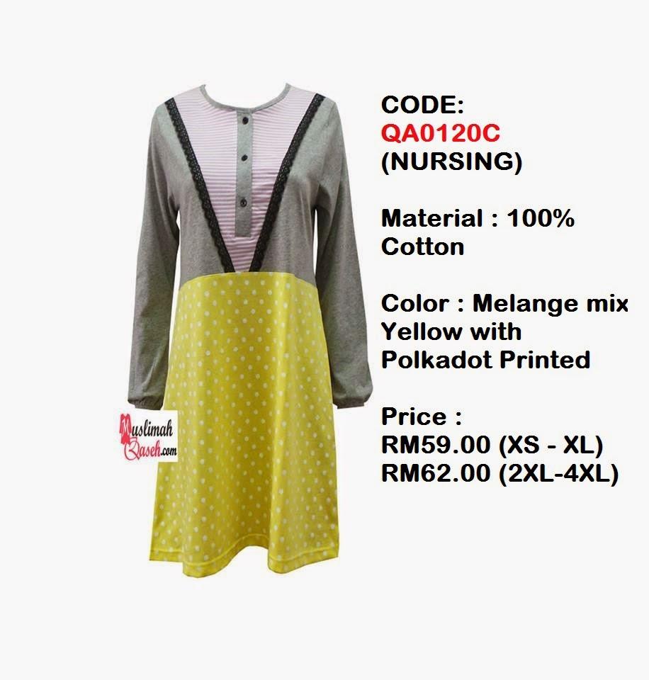 T-Shirt-Muslimah-Qaseh-QA0120C