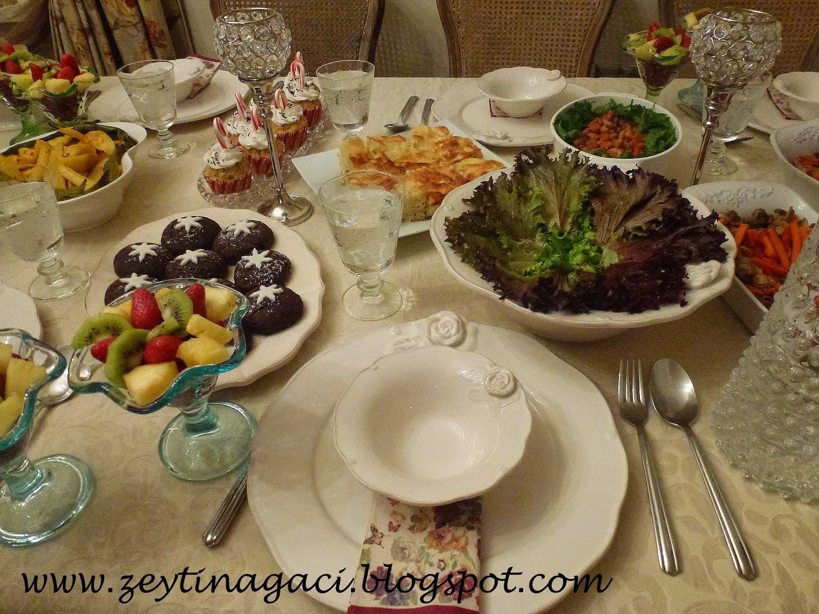 2015- Akşam Yemeği Davet  Menüsü / Örnek  Akşam Yemeği Menüsü