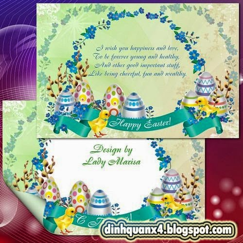 Greeting set – card and photoframe – Happy Easter - 6