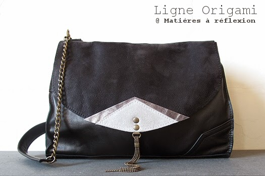 Sac cuir vintage Origami by Matieres a reflexion