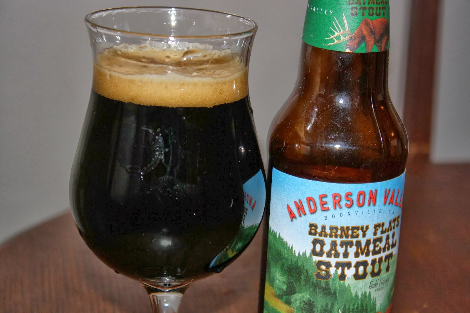 Anderson Valley Brewing Company, Barney Flats Oatmeal Stout, Craft Beer, Boonville, California