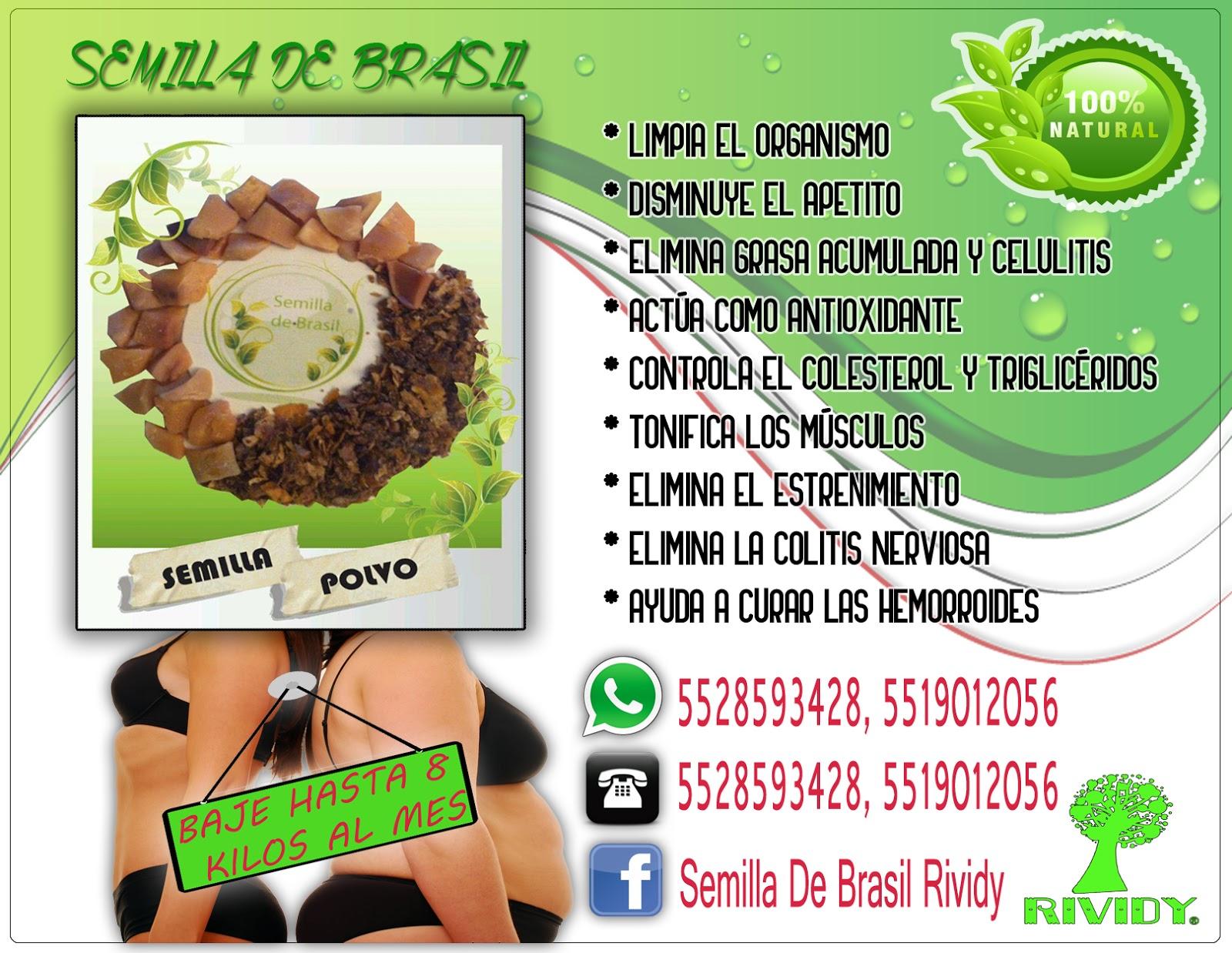 semillas de brasil efectos