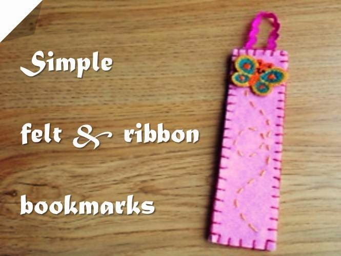 bookmarks, felt bookmarks, handmade bookmarks
