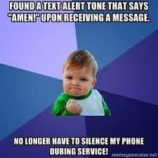 "Found a Text Alert That Says ""Amen"""