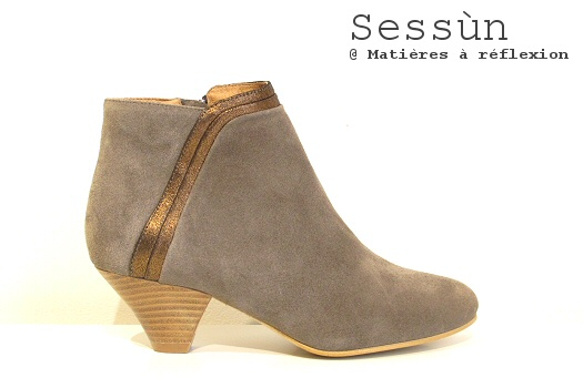 Low boots daim taupe Sessùn
