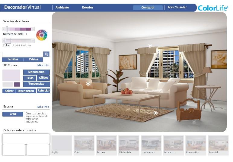 Aplicaci n en facebook para decorar tu casa remodelaciones for Decorador virtual hogar