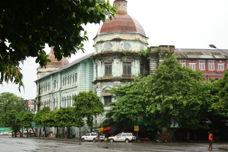 Yangon colonial buildings