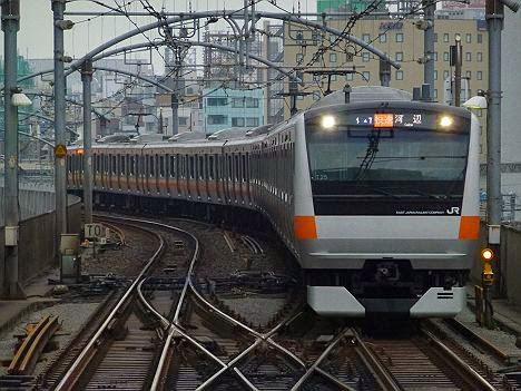 中央線 青梅線直通 快速 河辺行き E233系(2015.3.14ダイヤ改正に伴い消滅)