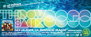 "THROWBACK 88-98 ZEN-LA-ROCK ""LA PHARAOH MAGIC"" Release Party @ Velours, Aoyama"