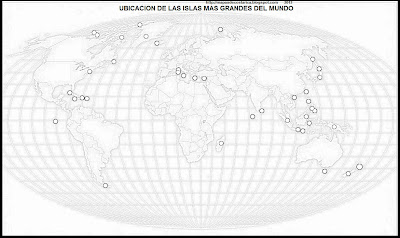 Mapamundi, seterra, Mapa de la ubicacion de las Islas en el mapamundi, blanco y negro