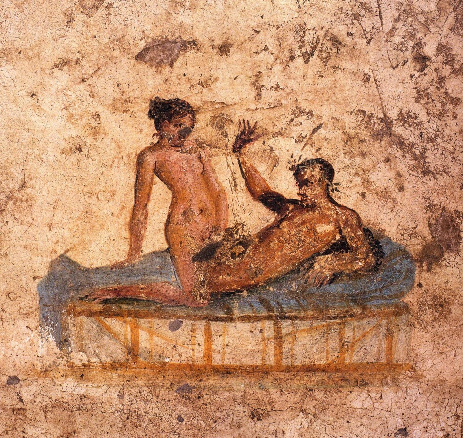 Древние эротические фрески помпеи.