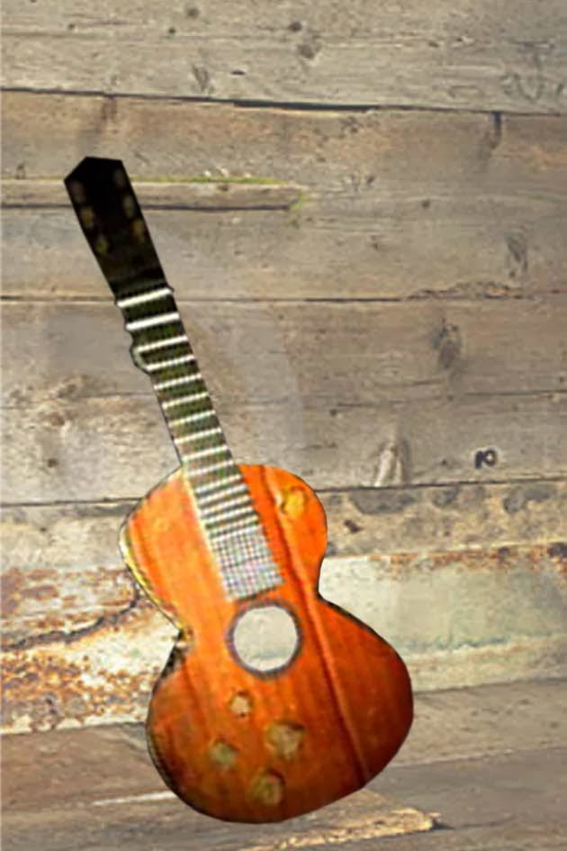 Make your own guitar at home home decoration by waste for Waste materials at home