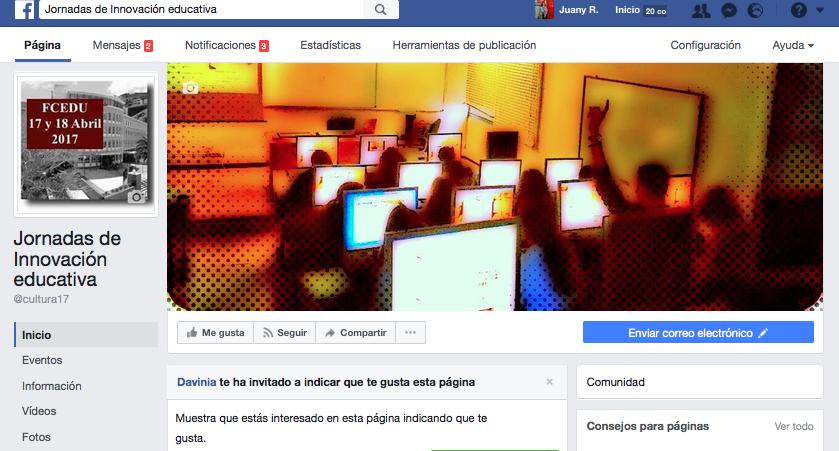Memoria gráfica de las JIE en Facebook