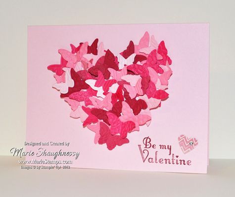 Stamping Inspiration: HEART A FLUTTER VALENTINE CARD...