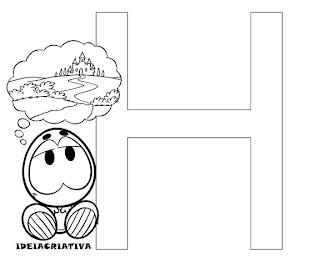 Texto Infantil Letra H Turma da Mônica