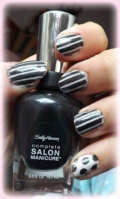 NOTW - Stripes & Spots | MUA & Sally Hansen |