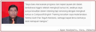 testimoni kursus bahasa inggris online terbaik di indonesia