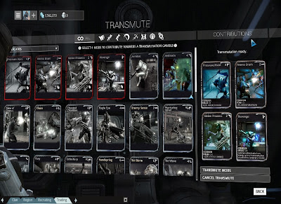 Warframe - Transmute Different Mods