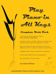 Play Piano In All Keys Complete Workbook by Eva Martin Hollaus