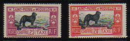 1932年サンピエールおよびミクロン島 ニューファンドランドの切手