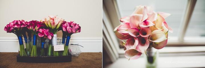 fushia pink calla lily bridal pouquet