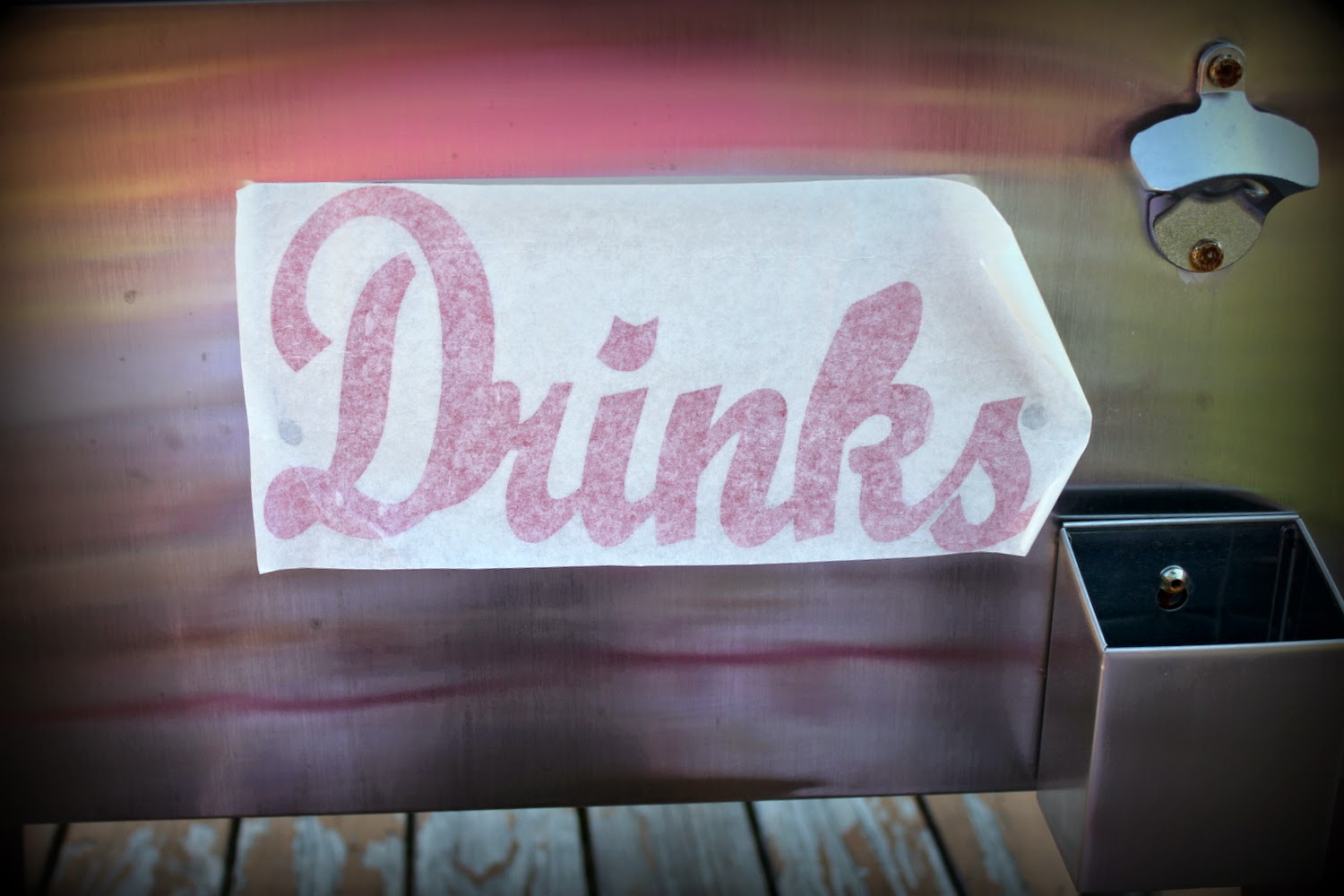 SRM Stickers Blog - Cool Vinyl Cooler by Shantaie - #vinyl #gloss #home decor #altered