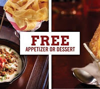 Free Appetizer or Dessert at TGI Fridays