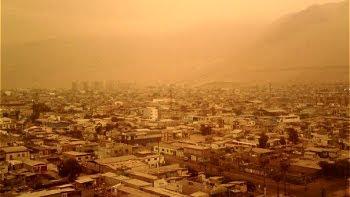 Fotos de cielo en Iquique. Tormenta de Arena