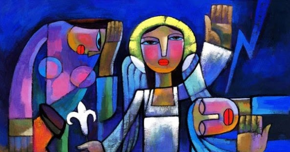 indigenous jesus easter morning by he qi