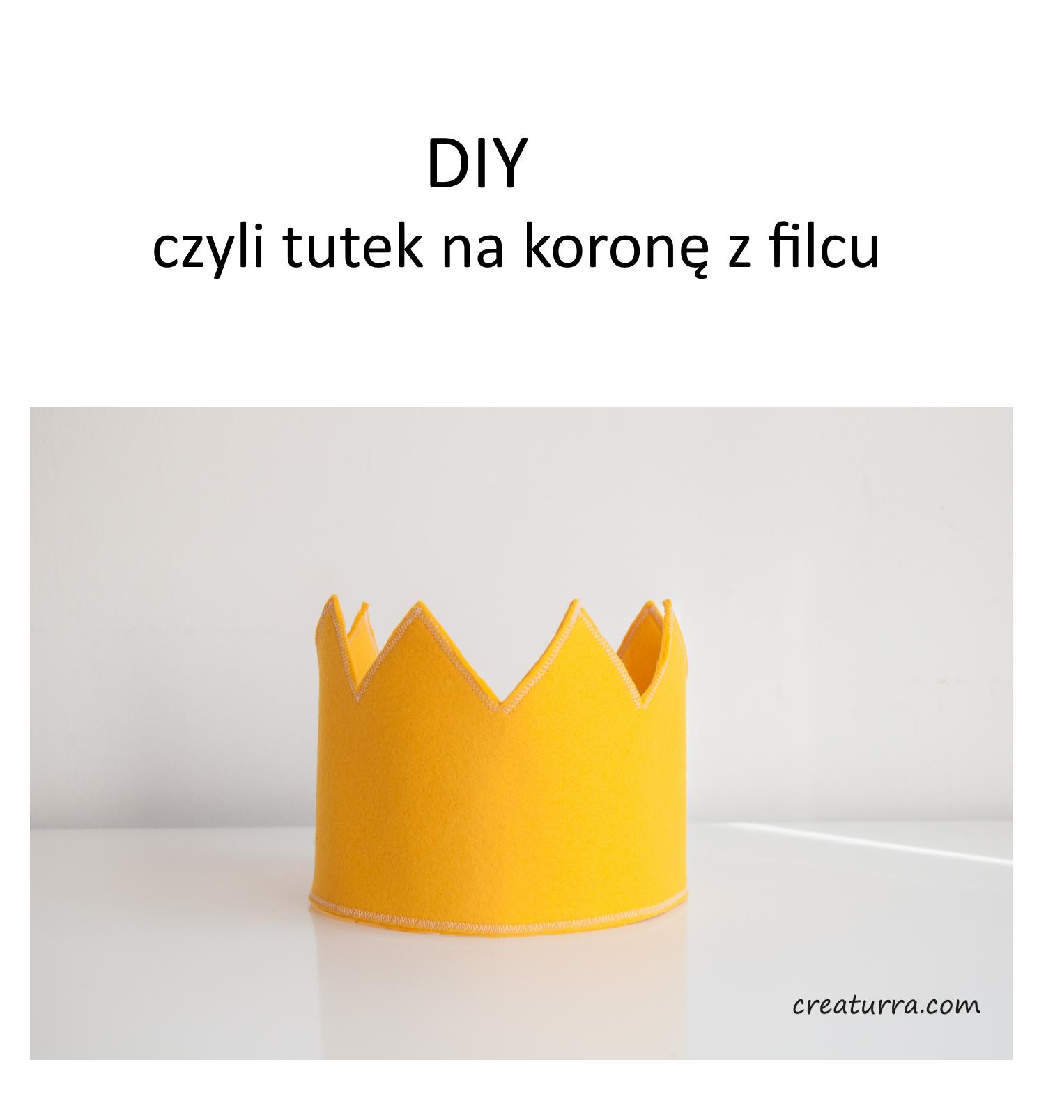 TUTORIAL jak uszyć koronę z filcu