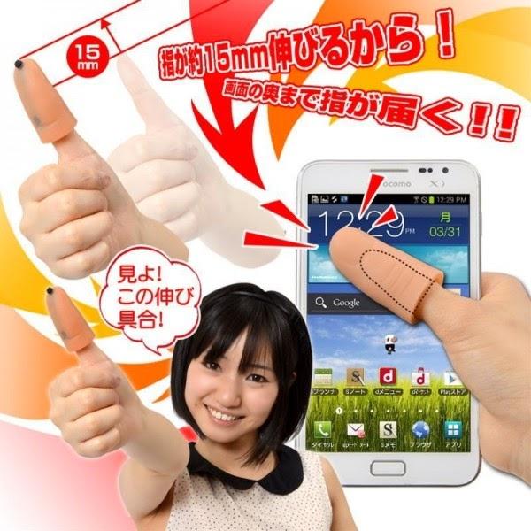 Japón-pulgar-móviles-táctiles