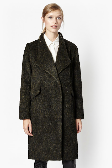 tyler green coat, french connection wrap coat,