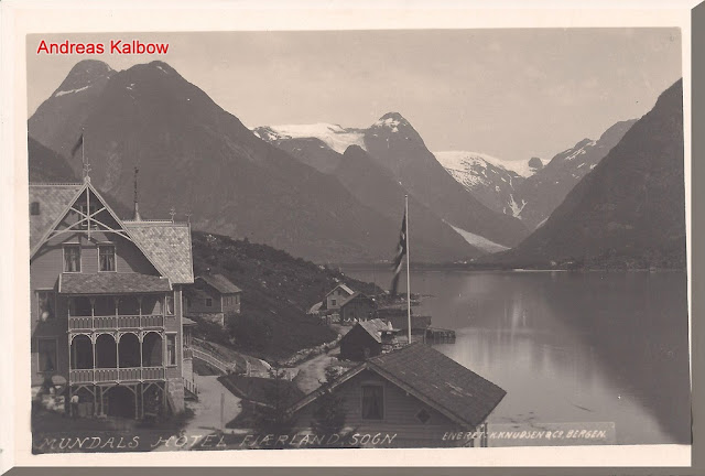 Fjærland the Hotel Mundal as seen in 1910. Photo: Vogelfoto69.