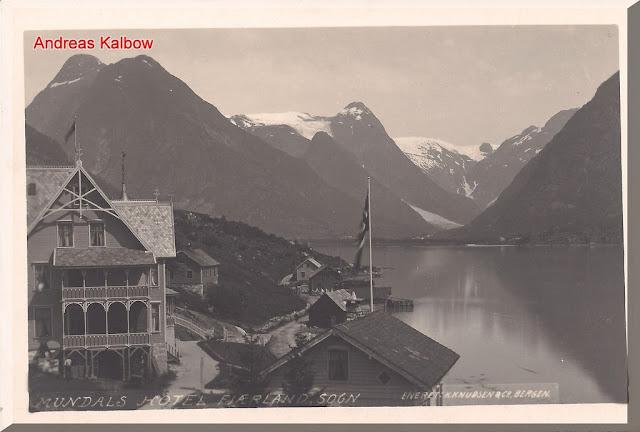 Fjærland the Hotel Mundal as seen in 1910. Photo: Vogelfoto69.