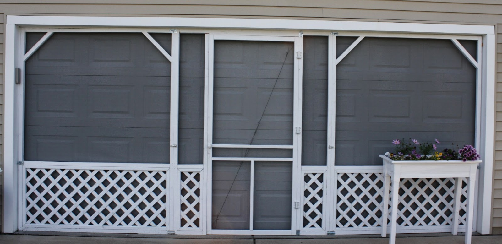 Ryan homes florence in buffalo: diy garage screen