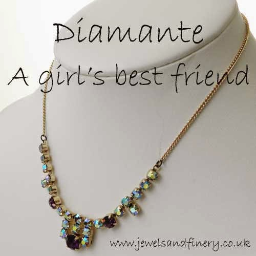 diamante necklace a girls best friend