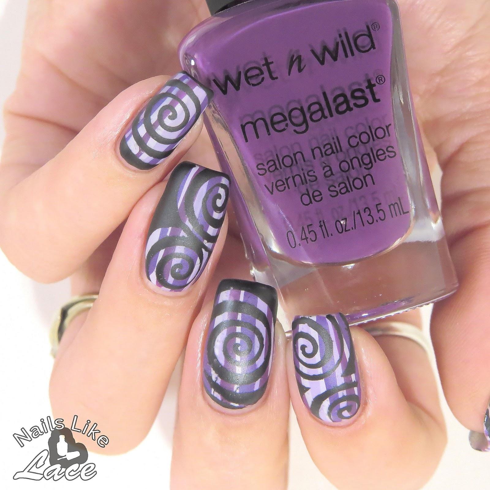 NailsLikeLace: 40 Great Nail Art Ideas: Three Shades of Purple - Swirls