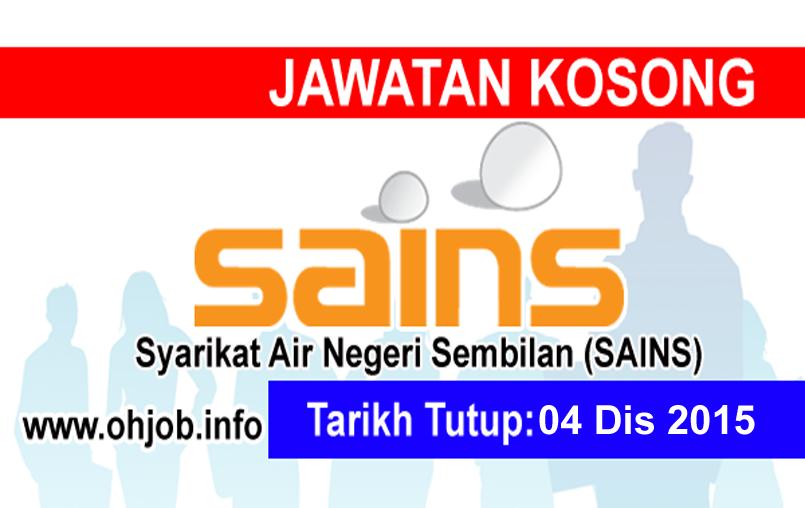 Jawatan Kerja Kosong Syarikat Air Negeri Sembilan (SAINS) logo www.ohjob.info disember 2015