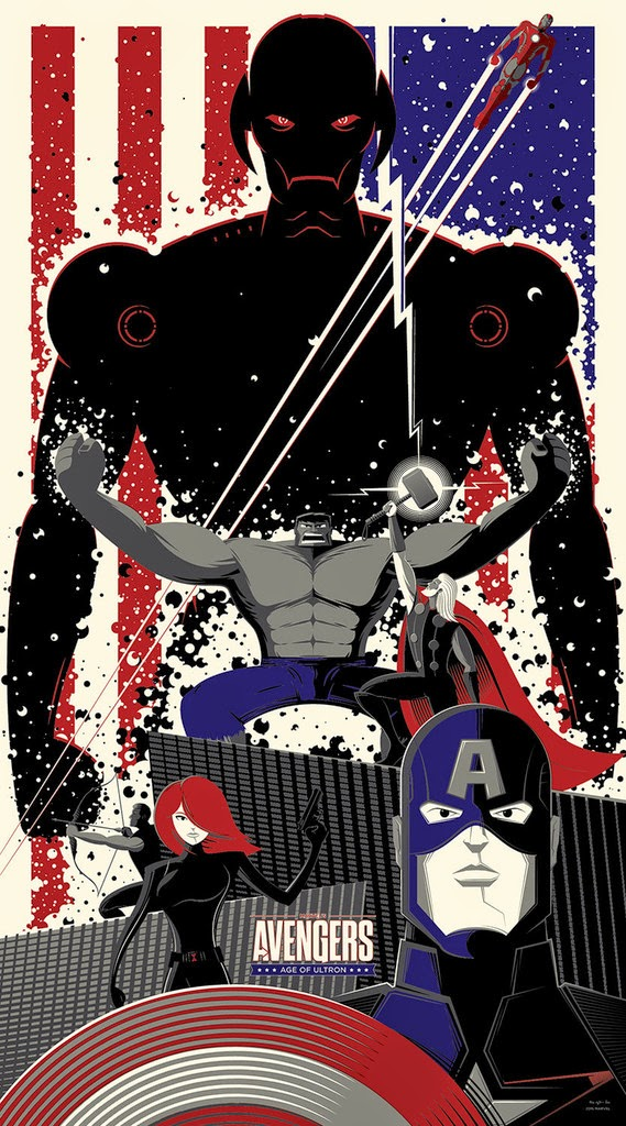 "Marvel's Avengers: Age of Ultron ""All of You, Against All of Me!"" Screen Print by Bruce Yan"