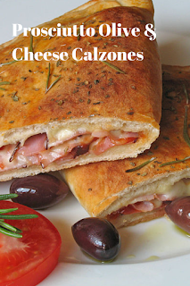 Prosciutto Olive & Cheese Calzones