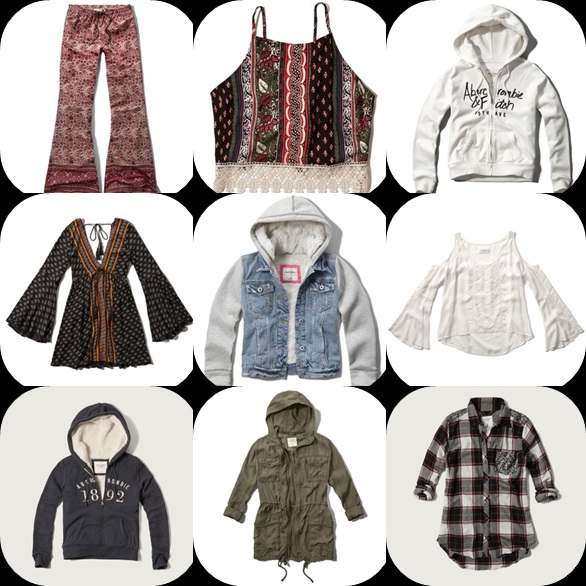 Abercrombie & Fitch com saldos marca americana de roupa jovem