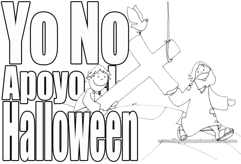 Dibujos contra el Halloween para colorear ~ Dibujos para ...