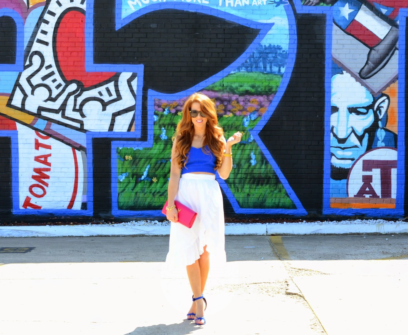 ruffle skirt and crop top